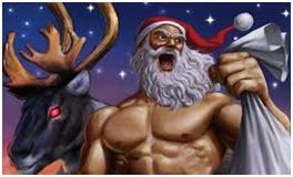 Topless santa