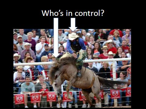 Whos in control.